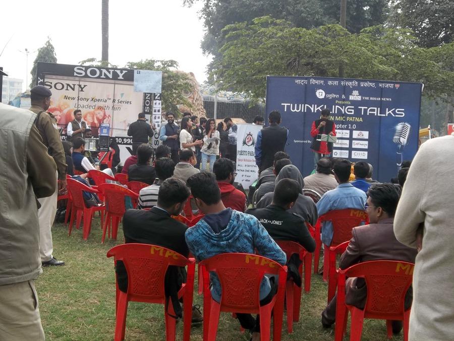 पटना के टैलेंटेड युवाओं को मिला नया मंच 'ट्विंकलिंग टॉक ओपन माइक'