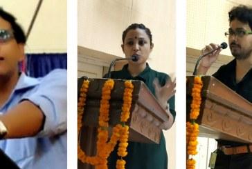 छात्र-छात्राओं संग युवा पत्रकारों ने भी देशप्रेम की अलख जगाई