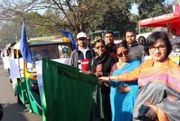 बोलो जिंदगी फाउंडेशन के तत्वधान में निकली महिला ऑटो रिक्शा स्वाभिमान रैली