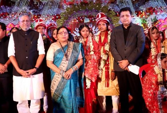 नेत्रदान-अंगदान-रक्तदान के सन्देश के साथ 51 जोड़ियों का संपन्न हुआ सामूहिक विवाह