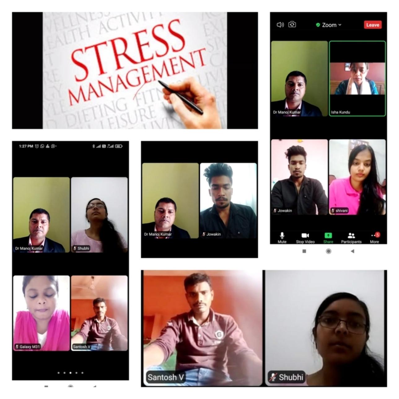 युवाओं में बढते तनाव व अवसाद जैसी समस्या के प्रति जागरूकता बेबिनार आयोजित